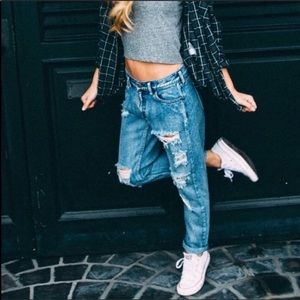 Brandy Melville Destroyed Jeans Size 26